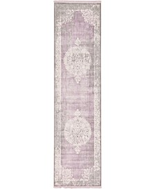 "Norston Nor4 Purple 2' 7"" x 10' Runner Area Rug"