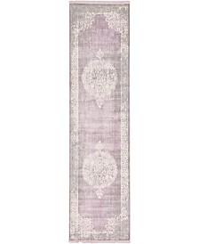 """Bridgeport Home Norston Nor4 Purple 2' 7"""" x 10' Runner Area Rug"""