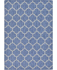 Bridgeport Home Pashio Pas5 Navy Blue 7' x 10' Area Rug