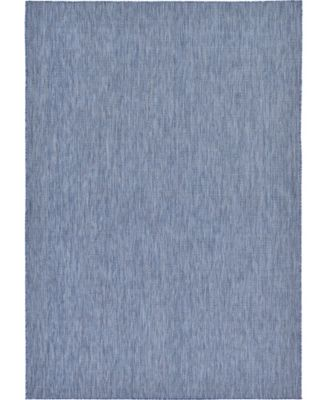 Pashio Pas6 Navy Blue 7' x 10' Area Rug