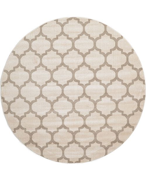 Bridgeport Home Arbor Arb1 Beige/Tan 8' x 8' Round Area Rug