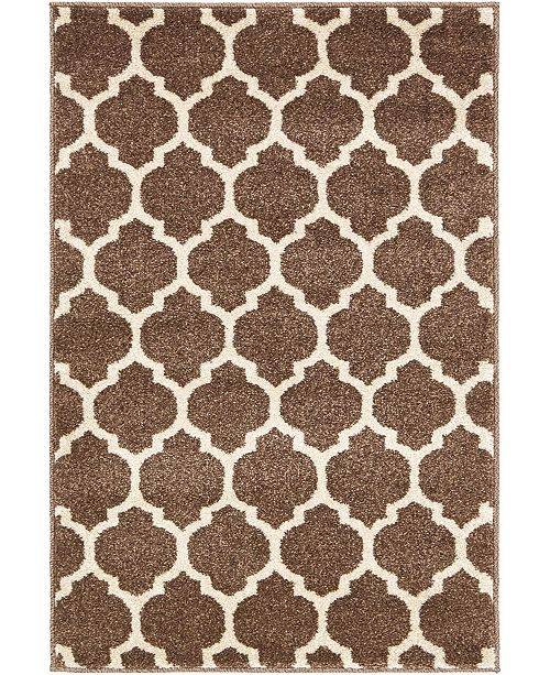"Bridgeport Home Arbor Arb1 Light Brown 2' 2"" x 3' Area Rug"