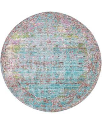 Malin Mal1 Blue 6' x 6' Round Area Rug