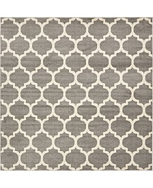 Arbor Arb1 Dark Gray 8' x 8' Square Area Rug