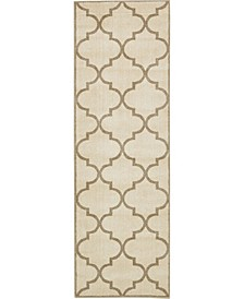 "Arbor Arb3 Beige/Brown 2' 7"" x 8' Runner Area Rug"