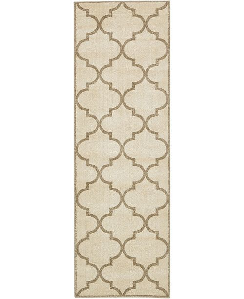"Bridgeport Home Arbor Arb3 Beige/Brown 2' 7"" x 8' Runner Area Rug"