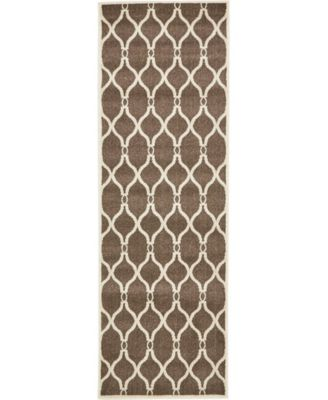 "Arbor Arb6 Brown 2' 7"" x 8' Runner Area Rug"