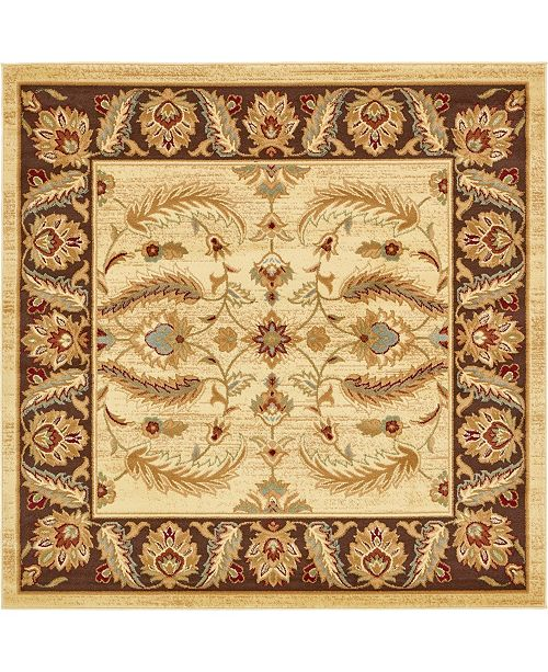 Bridgeport Home Passage Psg1 Ivory 6' x 6' Square Area Rug