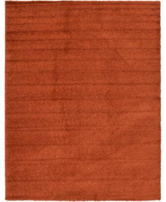 Exact Shag Exs1 Terracotta 5' x 8' Area Rug