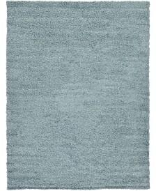Bridgeport Home Exact Shag Exs1 Light Slate Blue 7' x 10' Area Rug