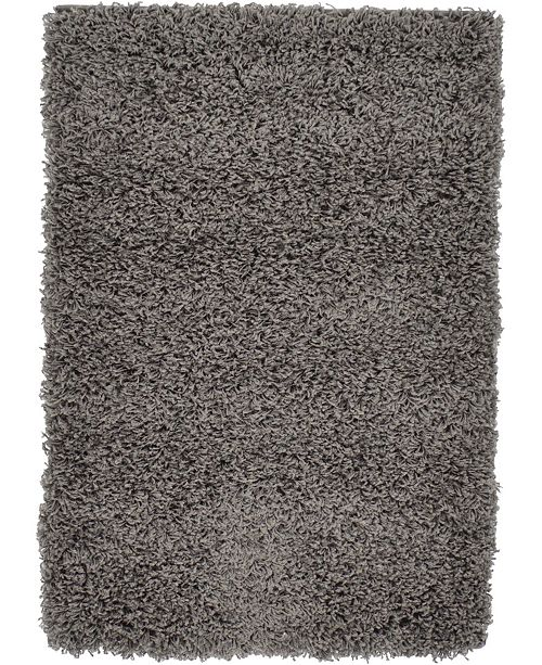 Bridgeport Home Exact Shag Exs1 Graphite Gray 2' x 3' Area Rug