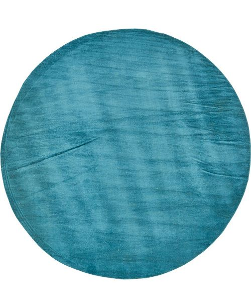Bridgeport Home Axbridge Axb3 Teal 8' x 8' Round Area Rug