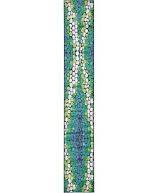 Politan Pol3 Light Green 2' x 13' Runner Area Rug