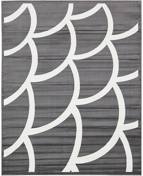 Bridgeport Home Politan Pol7 Gray 8' x 10' Area Rug