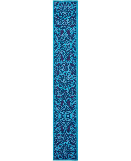 Bridgeport Home Politan Pol2 Turquoise 2' x 13' Runner Area Rug