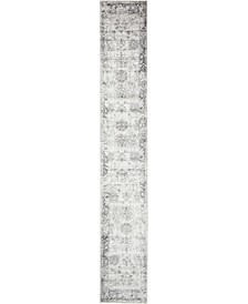 Basha Bas1 Gray 2' x 13' Runner Area Rug