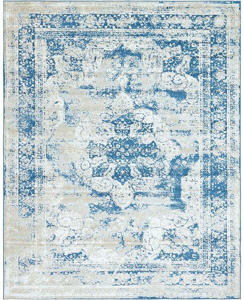 Bridgeport Home Basha Bas2 Blue 8' x 10' Area Rug