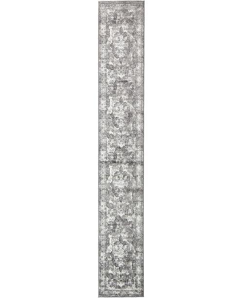 Bridgeport Home Basha Bas2 Gray 2' x 13' Runner Area Rug