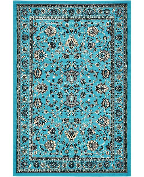 Bridgeport Home Arnav Arn1 Turquoise 6' x 9' Area Rug