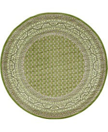 Axbridge Axb1 Green 5' x 5' Round Area Rug