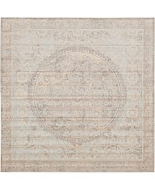 Caan Can1 Beige 8' x 8' Square Area Rug