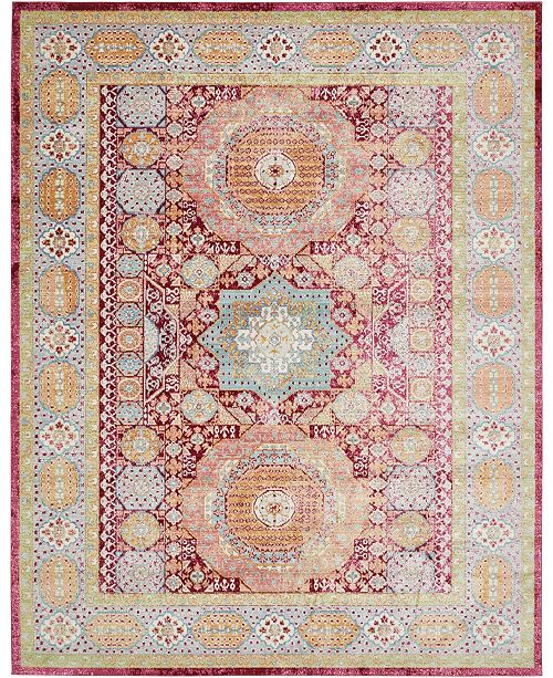 Bridgeport Home Malin Mal1 Red 10' x 13' Area Rug