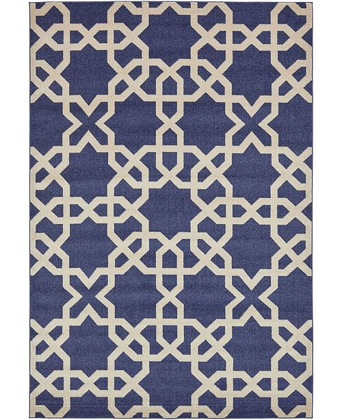 Bridgeport Home Arbor Arb5 Navy Blue 9' x 12' Area Rug