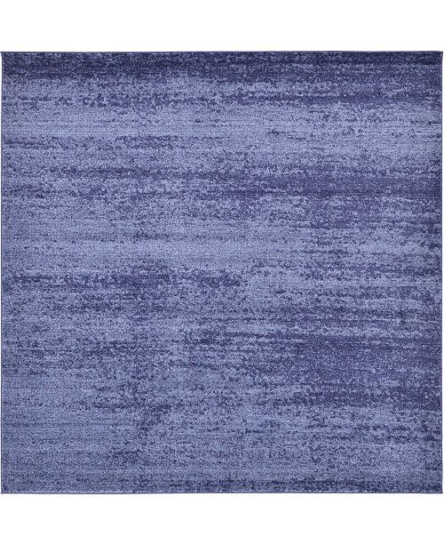 Bridgeport Home Lyon Lyo3 Navy Blue 8' x 8' Square Area Rug