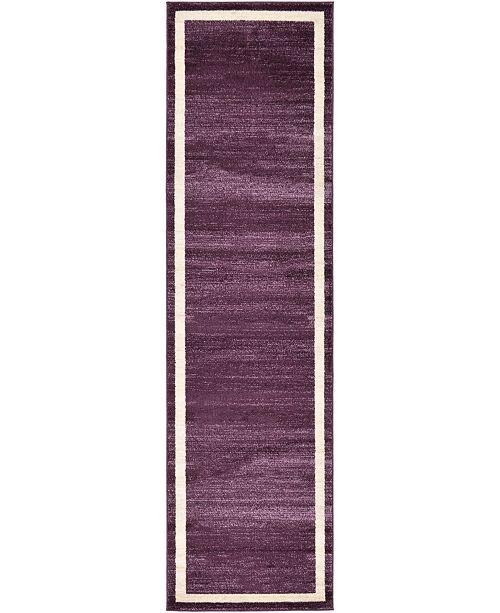"Bridgeport Home Lyon Lyo5 Violet 2' 7"" x 10' Runner Area Rug"