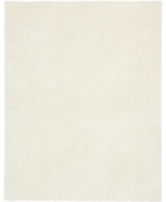 Salon Solid Shag Sss1 White 9' x 12' Area Rug