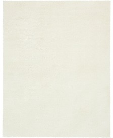 Bridgeport Home Salon Solid Shag Sss1 White 9' x 12' Area Rug