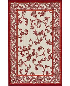 Bridgeport Home Pashio Pas4 Beige/Terracotta 5' x 8' Area Rug