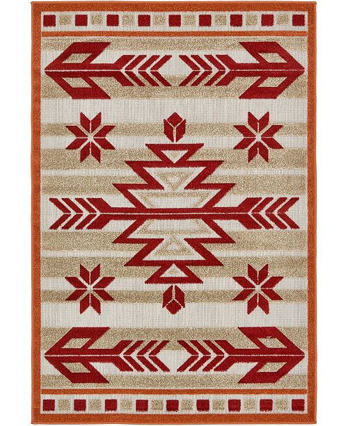 Bridgeport Home Pashio Pas2 Burgundy 4' x 6' Area Rug