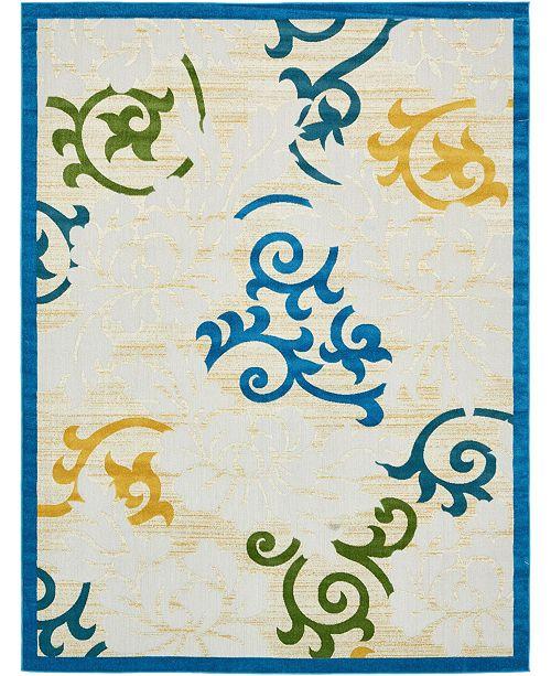 Bridgeport Home Pashio Pas3 Blue 9' x 12' Area Rug