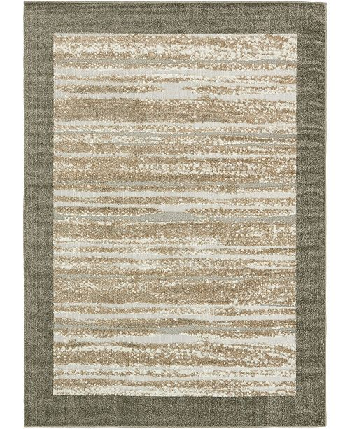 Bridgeport Home Pashio Pas4 Brown 7' x 10' Area Rug