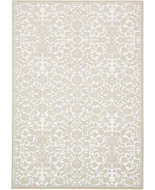 "Bridgeport Home Marshall Mar1 Snow White 8' x 11' 6"" Area Rug"