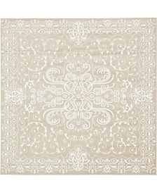 Bridgeport Home Marshall Mar4 Snow White 8' x 8' Square Area Rug