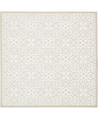 Marshall Mar5 Snow White 8' x 8' Square Area Rug
