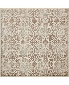 Marshall Mar6 Dark Beige 8' x 8' Square Area Rug