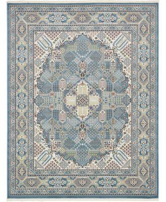 Zara Zar4 Blue 8' x 10' Area Rug