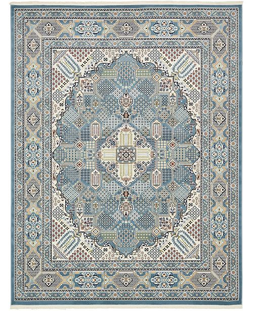 Bridgeport Home Zara Zar4 Blue 8' x 10' Area Rug