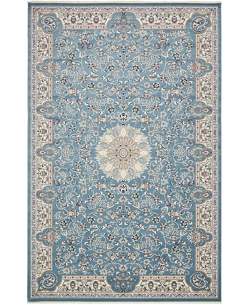 "Bridgeport Home Zara Zar5 Blue 13' x 19' 8"" Area Rug"