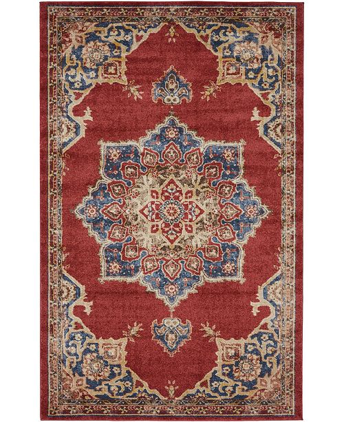 Bridgeport Home Shangri Shg3 Burgundy 5' x 8' Area Rug
