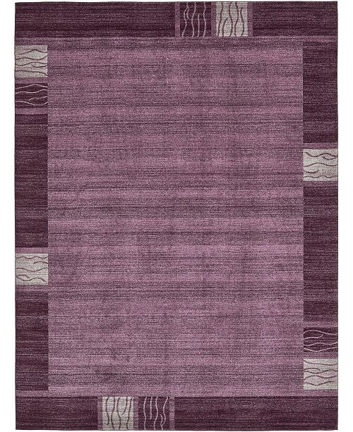 Bridgeport Home Lyon Lyo1 Purple 10' x 13' Area Rug