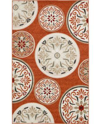 Pashio Pas4 Terracotta 5' x 8' Area Rug