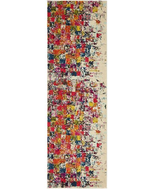 "Bridgeport Home Newwolf New3 Multi 2' 2"" x 6' 7"" Runner Area Rug"