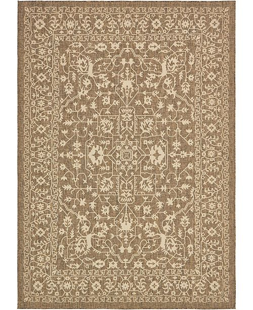 Bridgeport Home Pashio Pas6 Brown 7' x 10' Area Rug