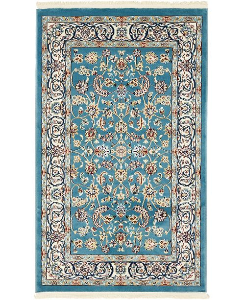 Bridgeport Home Zara Zar1 Blue 3' x 5' Area Rug