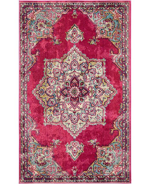 Bridgeport Home Sana San1 Fuchsia 5' x 8' Area Rug