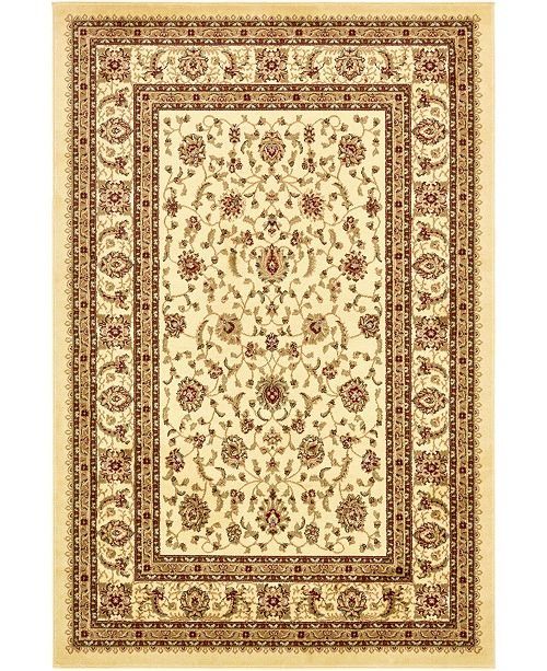 Bridgeport Home Passage Psg4 Ivory 6' x 9' Area Rug